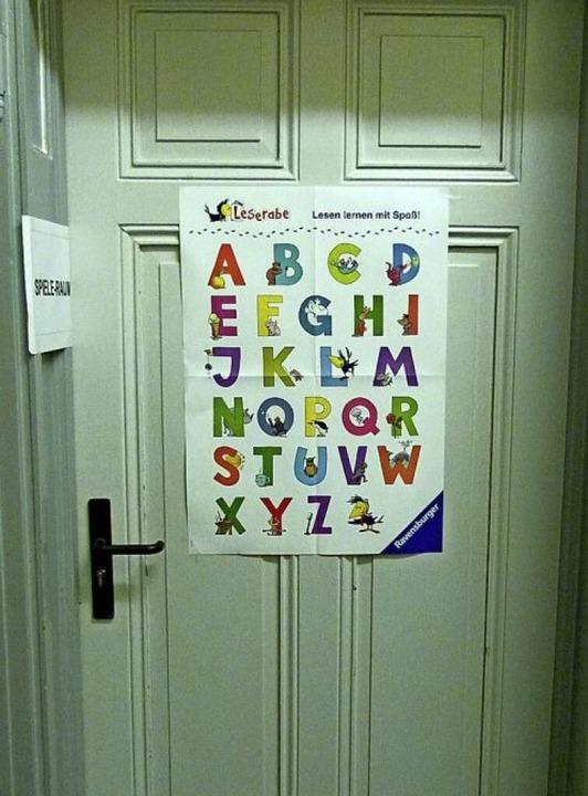 Die Eingangstür zum Spielraum der Bücherei  | Foto: Presse-AG