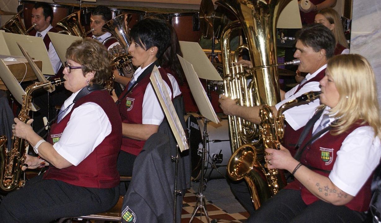Der Musikverein Oberwihl bot ein begeisterndes Jahreskonzert.     Foto: Werner Probst