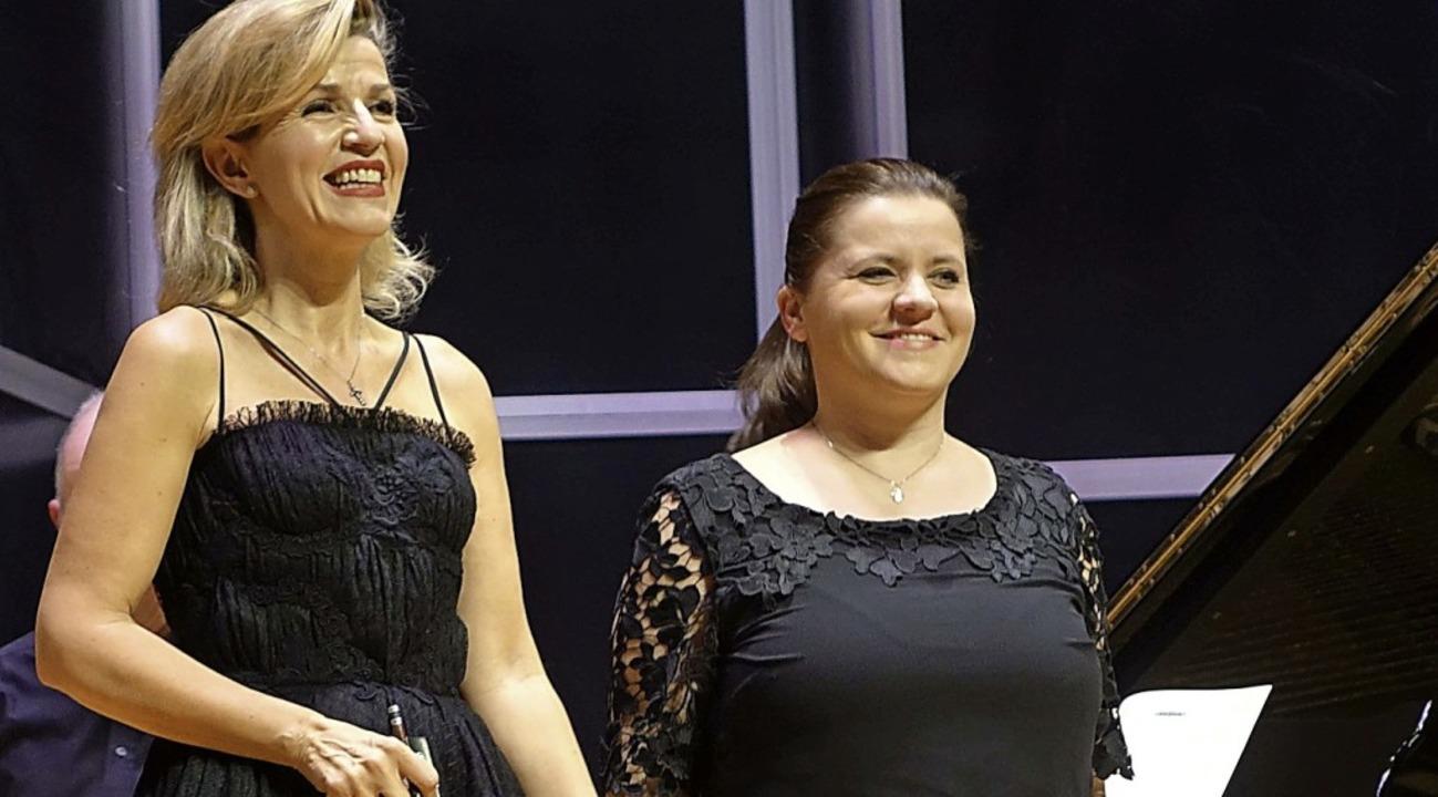 Stargeigerin Anne-Sophie Mutter, begle...ngen mit ihrer exquisiten Geigenkunst.    Foto: Roswitha Frey