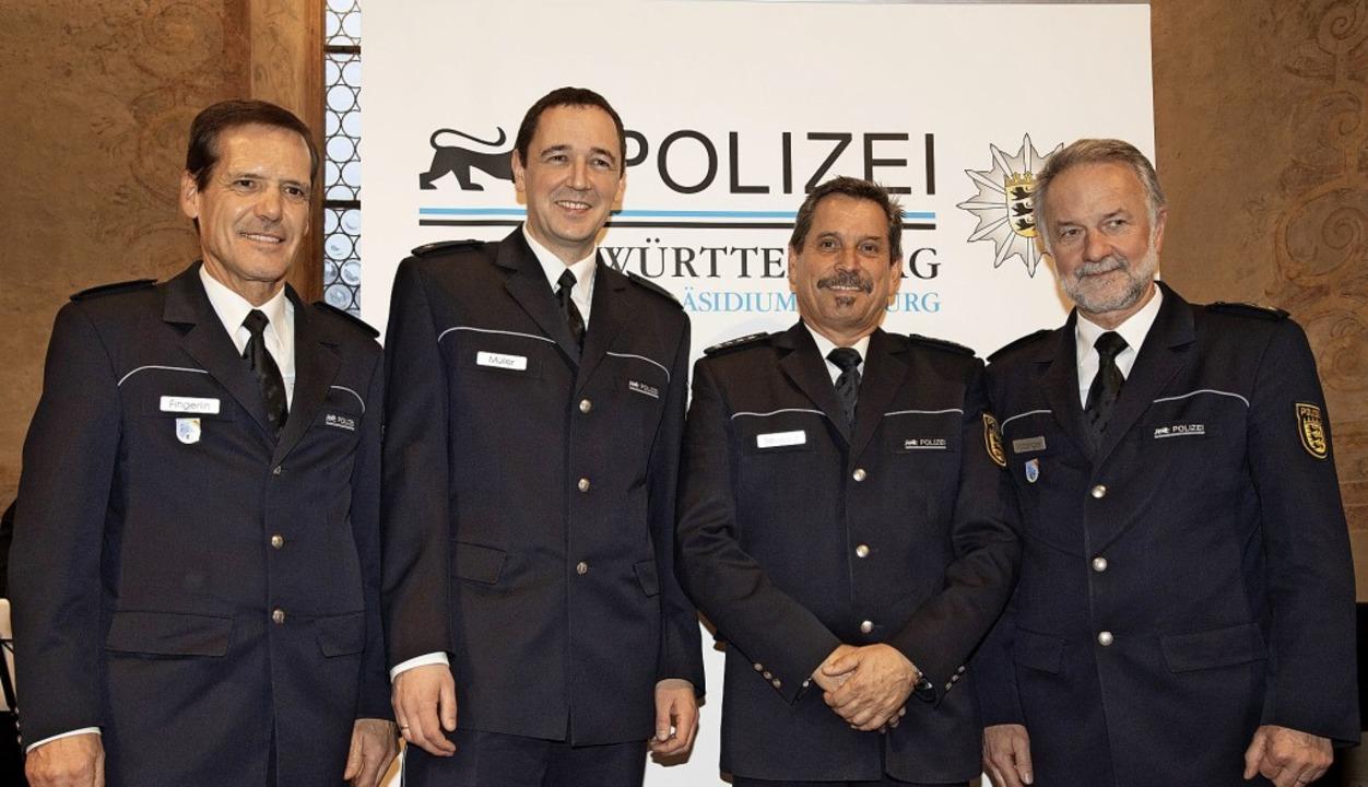 Wechsel an der Spitze des Müllheimer P...Zweiter von rechts) zu Thomas Müller.     Foto: Volker Münch