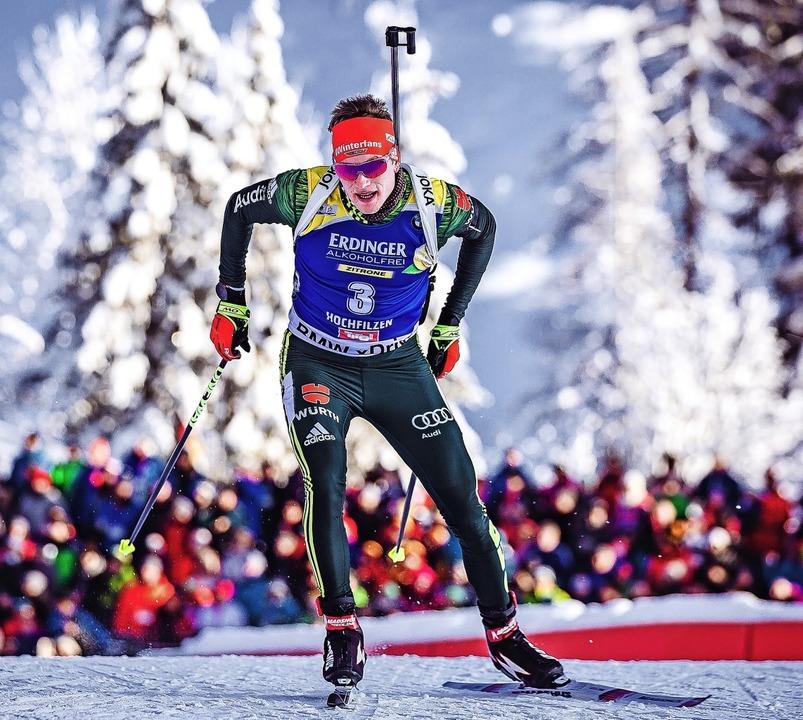 Am Freitag im Sprint und am Sonntag mi...enedikt Doll von der Skizunft Breitnau    Foto: DPA