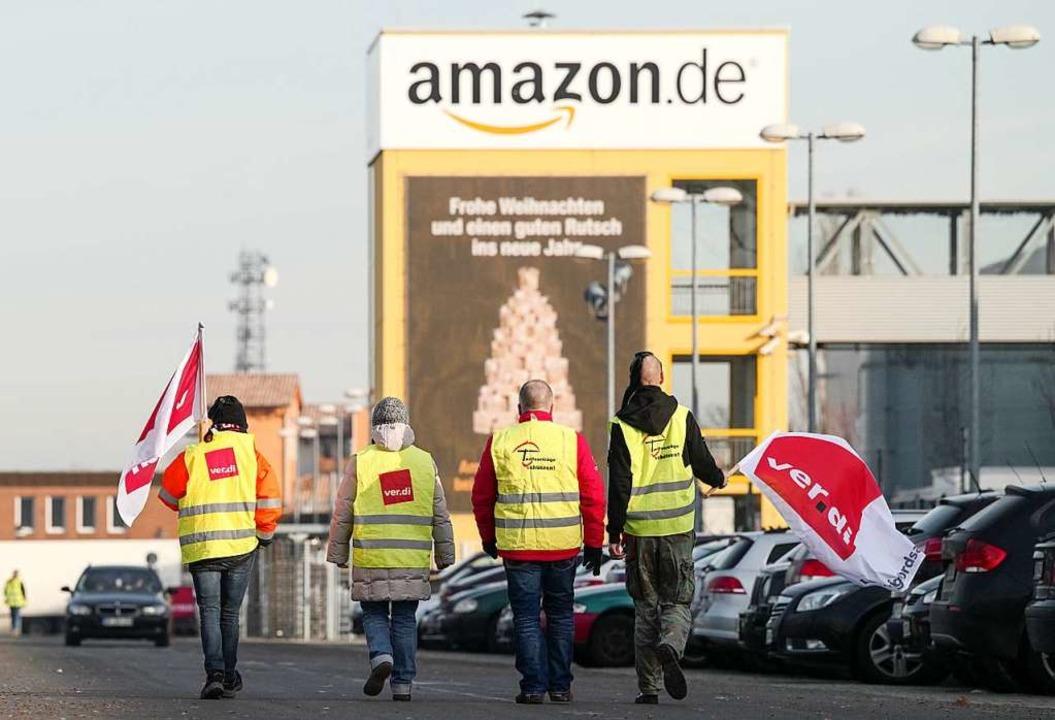 Verdi ruft die Amazon-Mitarbeiter zum Streik auf.    Foto: dpa