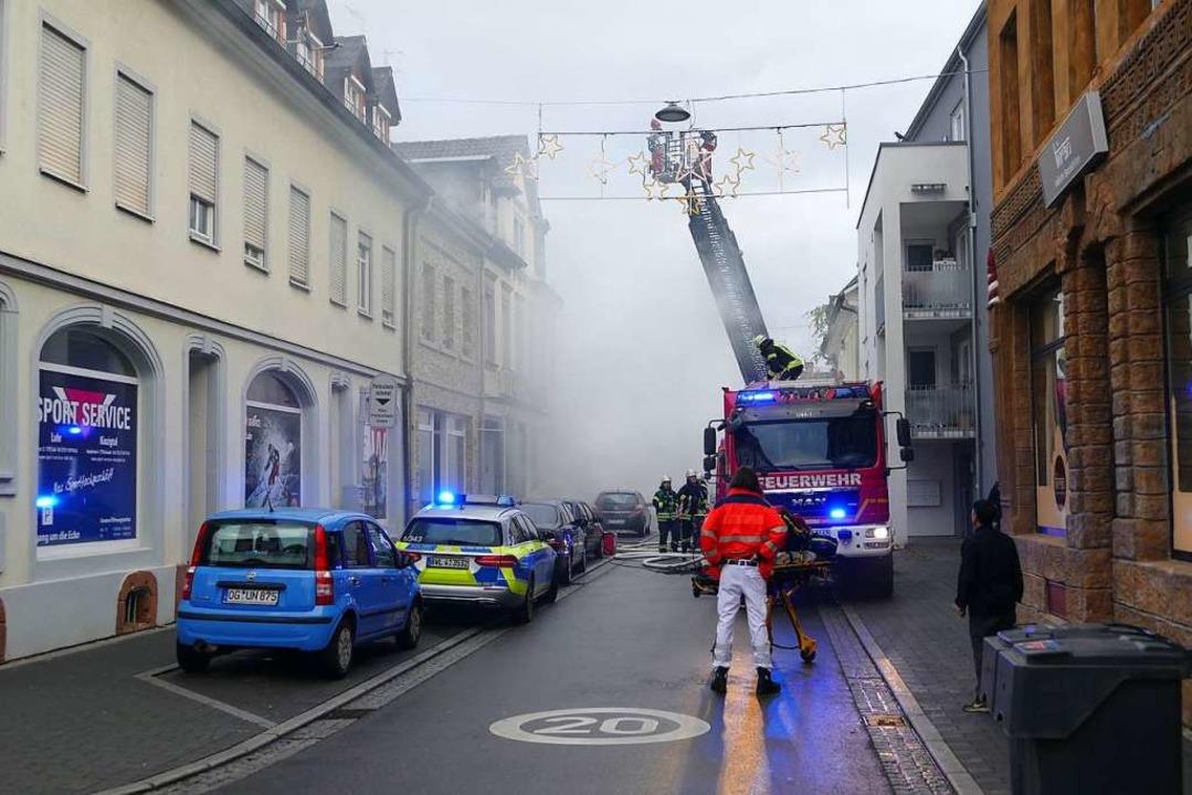 Brand in der Lahrer Innenstadt.  | Foto: Christian Kramberg