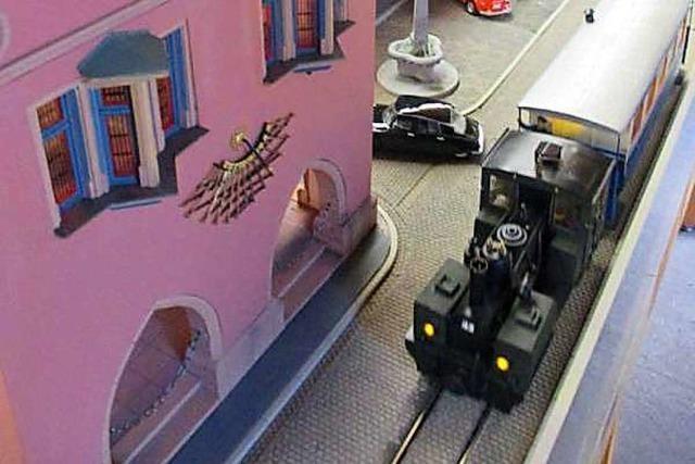 Alte Eisenbahn dreht ihre Runden im Lahrer Stadtmuseum