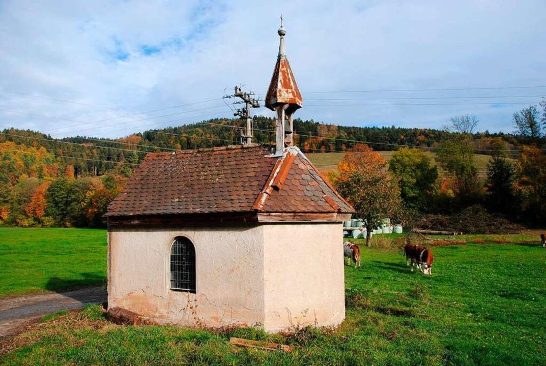 Wendelin ist wie kaum ein zweiter Heil..., wie  beim Eschbacher Mossbrunnenhof.    Foto: Manfred Frietsch