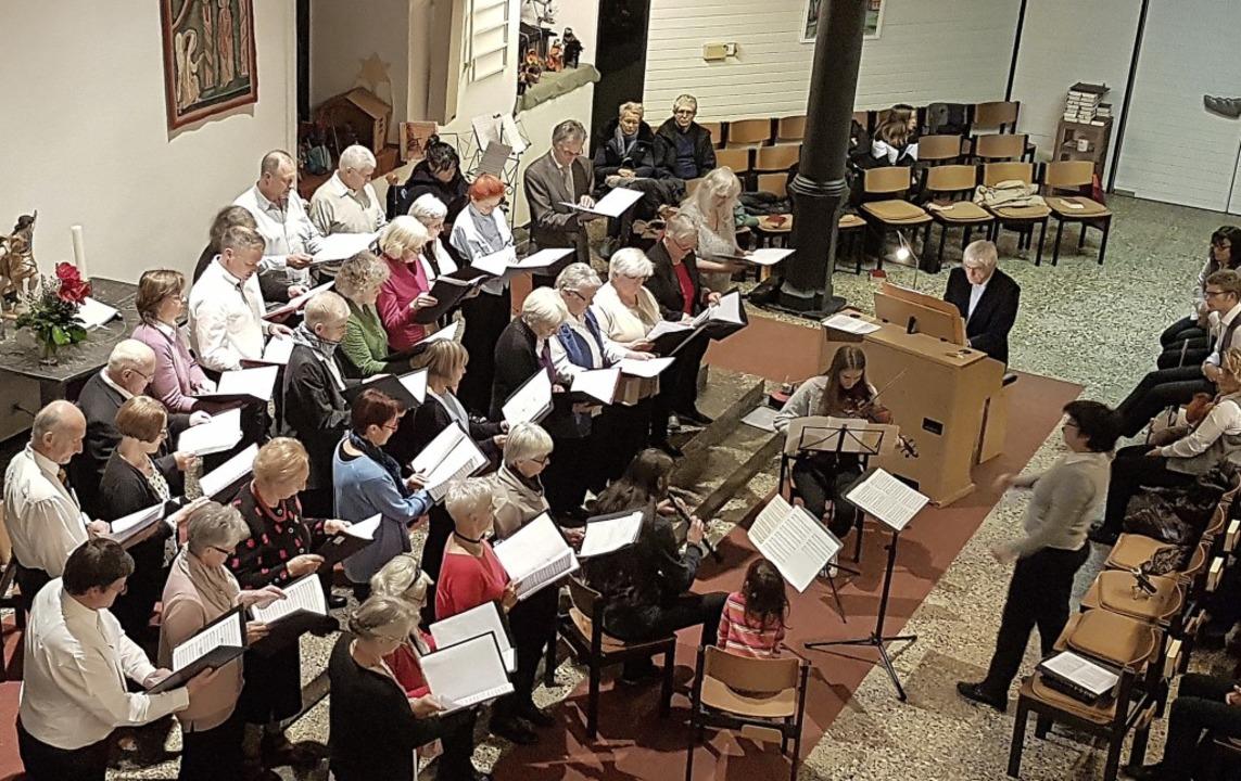 Der gemischte Chor unter Leitung von Birte Niemann  | Foto: Daniel Scholaster