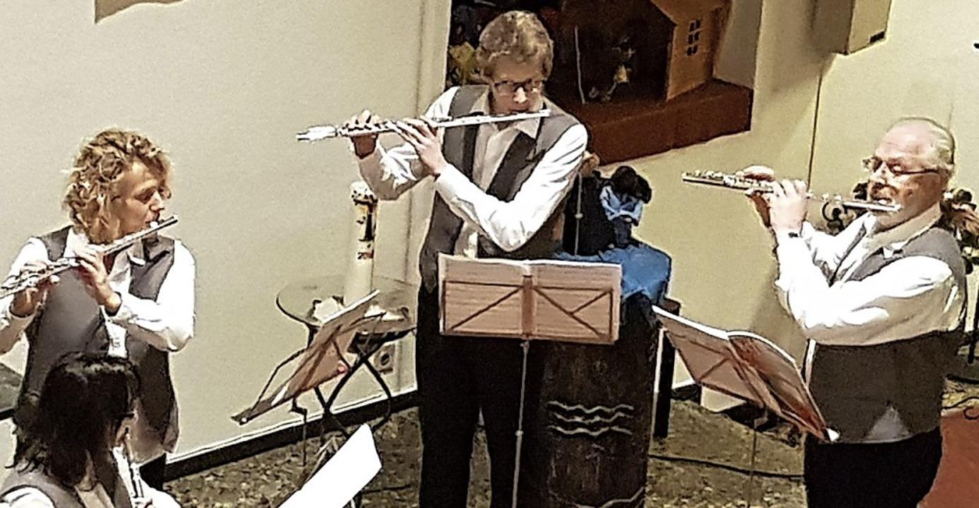 Das Flötenquartett in der Evangelischen Kirche St. Nikolaus  | Foto: Daniel Scholaster