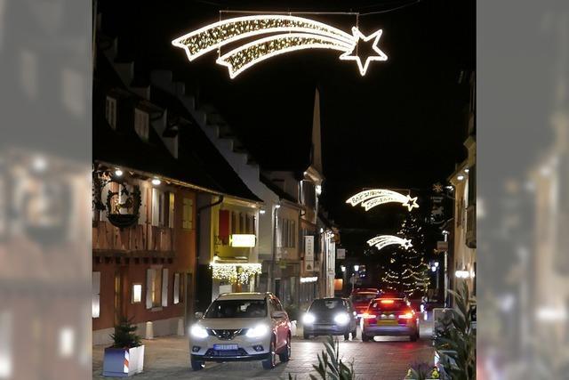 Der Weg zum Weihnachtsfest ist in Bad Krozingen hell erleuchtet