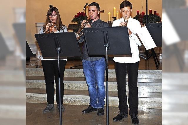 Jugendmusikschule mit besinnlichem Programm