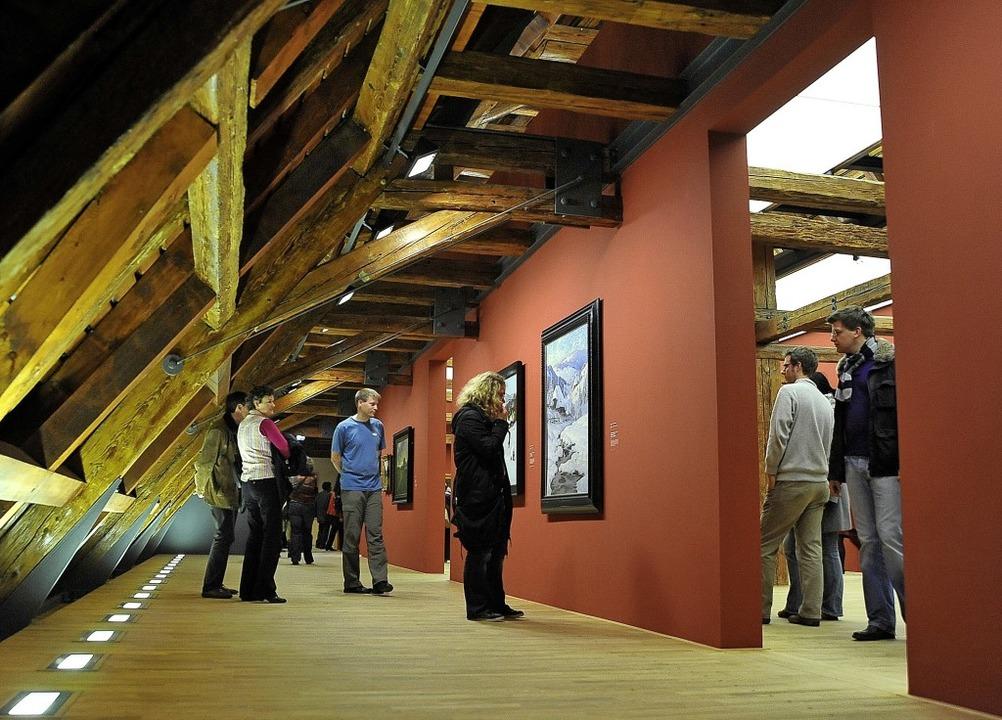 Die nun gesperrte Gemäldegalerie im Da...s des Museums  bei der Eröffnung 2010   | Foto: Archivfoto: Thomas Kunz