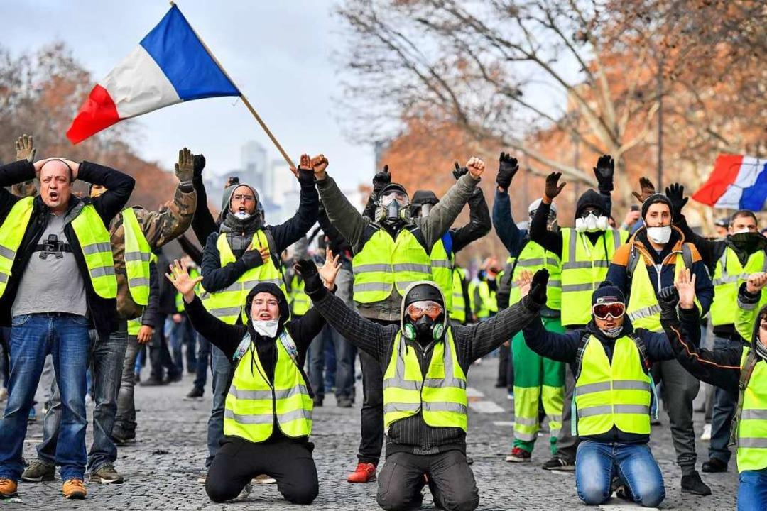Gelbwesten in Frankreich – Ausdruck von Bürgerwut  | Foto: dpa
