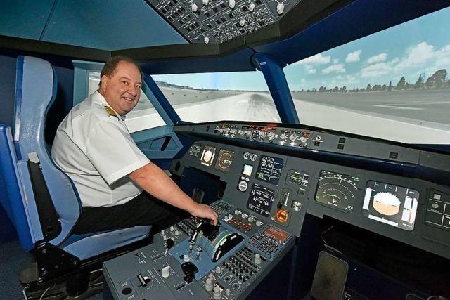 Mitten in Freiburg kann man mit einem Airbus A 320 fliegen