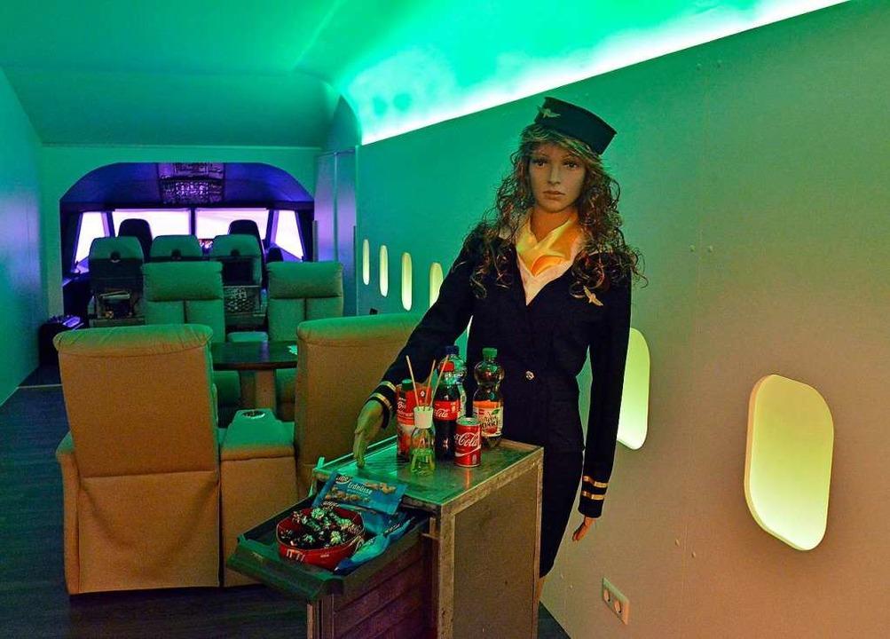 Nur die Stewardess wirkt wenig lebensecht.  | Foto: Michael Bamberger