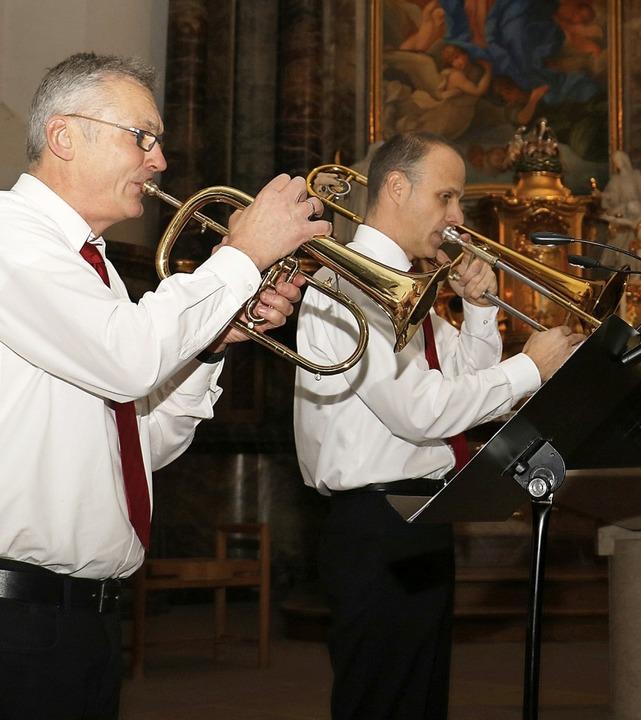 In Umkirch spielte unter anderen die B...d in Hugstetten das Saxophon-Ensemble     Foto: Christa Rinklin