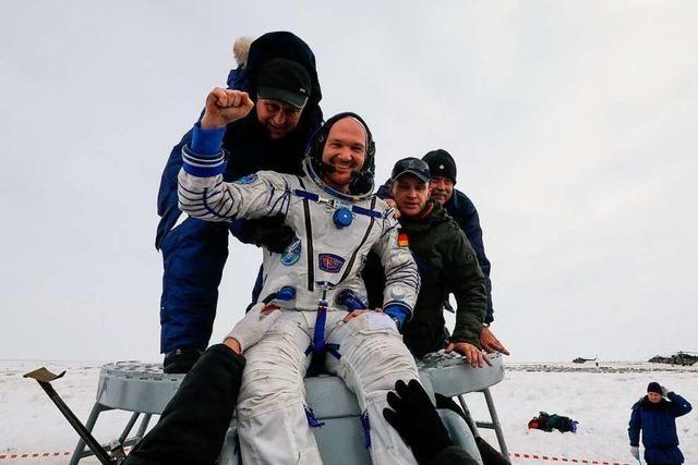 Astronaut Alexander Gerst wohlbehalten auf der Erde gelandet