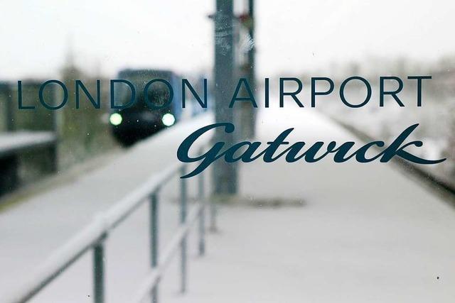 Großflughafen London-Gatwick stundenlang lahmgelegt