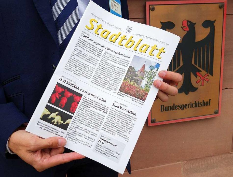 Berichte rund ums Rathaus ja, lokale B... - der BGH setzt Amtsblättern Grenzen.  | Foto: dpa