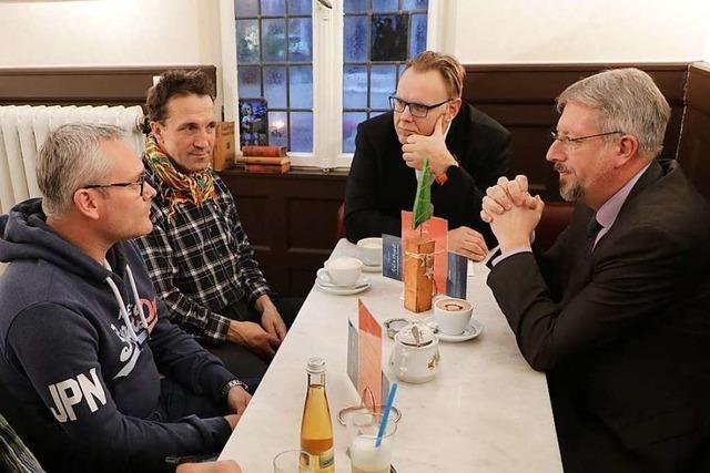 Wie war's beim... Kaffeetrinken mit zwei Lahrer Bürgermeistern?