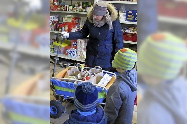 Kindergarten spendet an Tafel