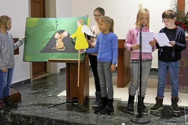 Kinder gestalten den Gottesdienst