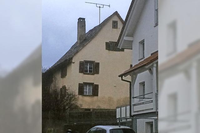 Altes Haus verschwindet
