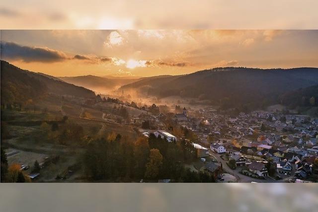 Das Münstertal in der Morgensonne