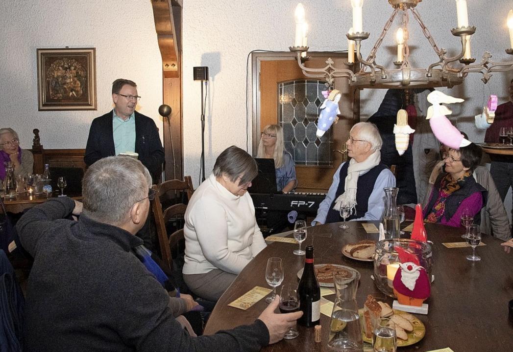 Lust auf mehr machte Buchautor Harald ... Lesung im Weingut Lämmlin-Schindler.     Foto: volker Münch