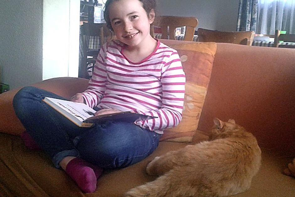 Ich wünsche mir ein Bauernhaus mit Heizung, mit einem kuscheligen Bett, mit vielen Büchern, dann kann ich ungestört lesen. Véronique, 9 Jahre (Foto: Rapp)