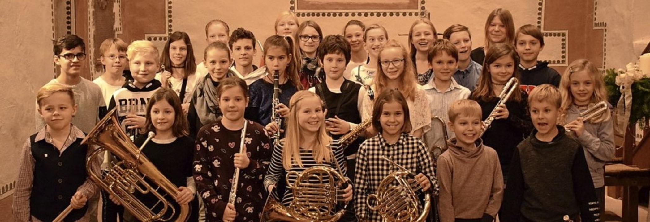<BZ-FotoAnlauf>Musikverein Wollbach:</...nd das Jugendvorspiel in der Kirche.    | Foto: Johannes Krey