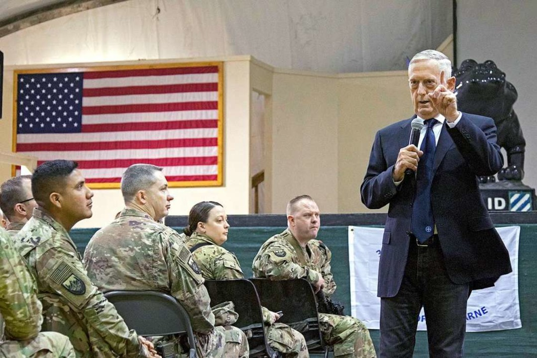 Verteidigungsminister James Mattis auf Truppenbesuch in Afghanistan  | Foto: dpa