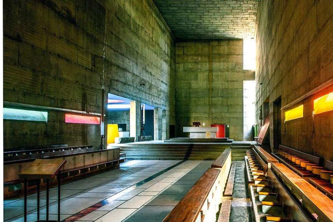 Kloster Sainte Marie de la Tourette: Blick ins Kirchenschiff  | Foto: -