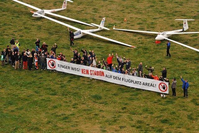 Freiburger Segelflieger klagen gegen das geplante SC-Stadion