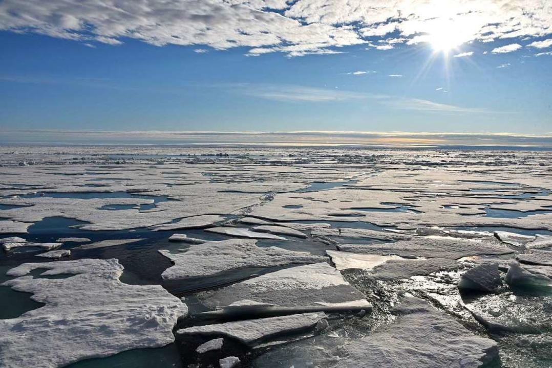 Einer der Faktoren, der den Winterverl...bestimmen soll: Meereis in der Arktis.    Foto: dpa