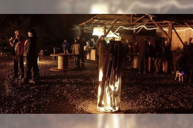 Feuerbauer feiern die Wintersonnwende