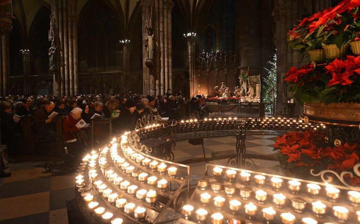 Weihnachtsliedersingen im Münster  | Foto: Rita Eggstein