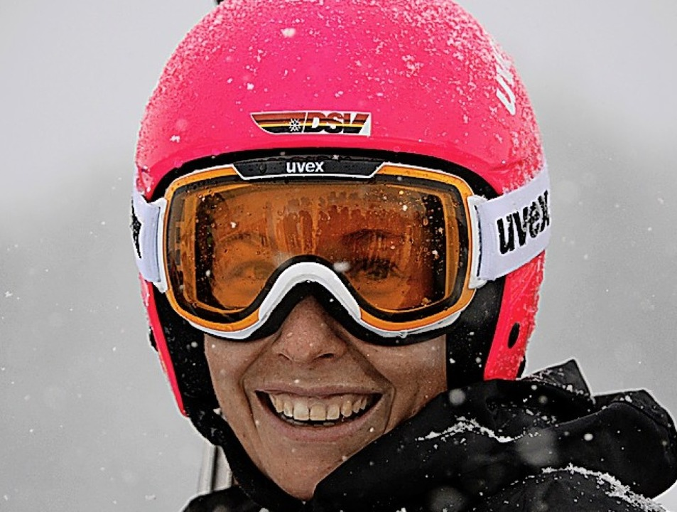 Heidi Zacher 2017 beim Weltcup am Feldberg   | Foto: DPA (Seeger)