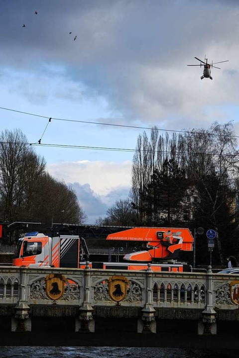 Einsatz für den Hubschrauber  | Foto: Patrick Seeger