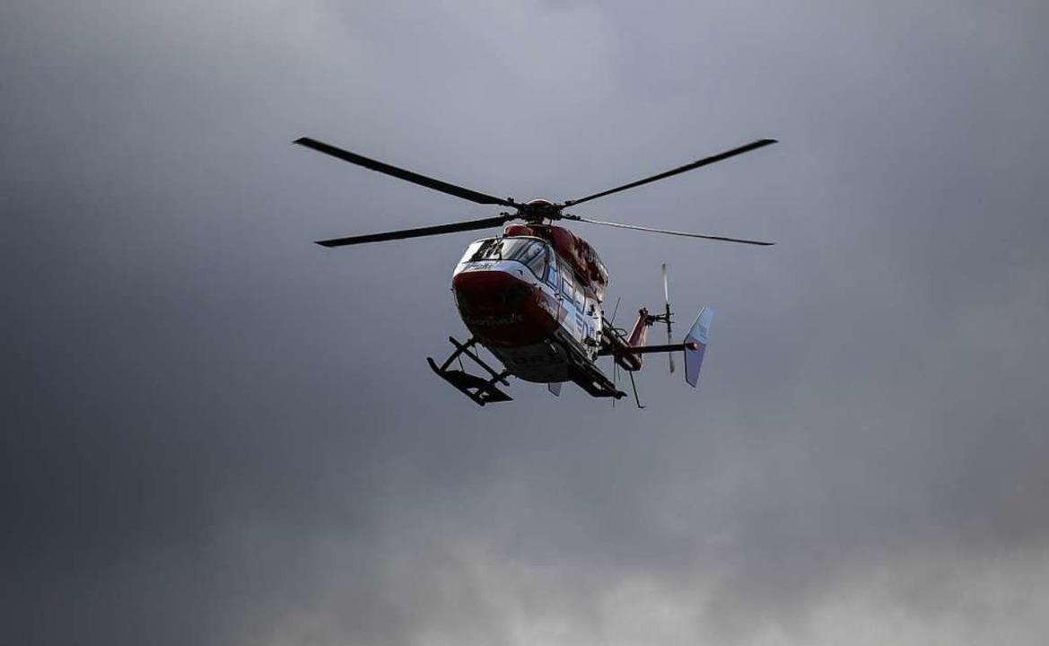 """Christoph 54"" in der Luft  | Foto: Patrick Seeger"