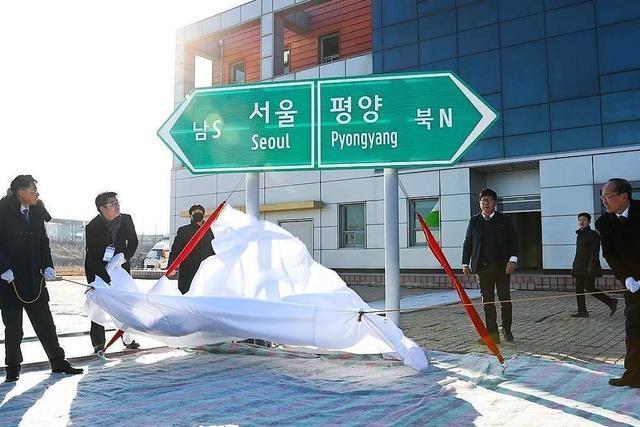 Süd- und Nordkorea legen Grundstein für Bahn- und Straßenverbindung