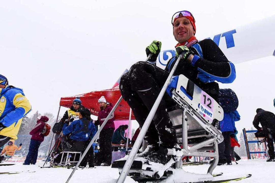 Benjamin Rudiger, der Ex-Mountainbiker...rten. Rudiger gab in der Loipe alles.   | Foto: Patrick Seeger/DPA