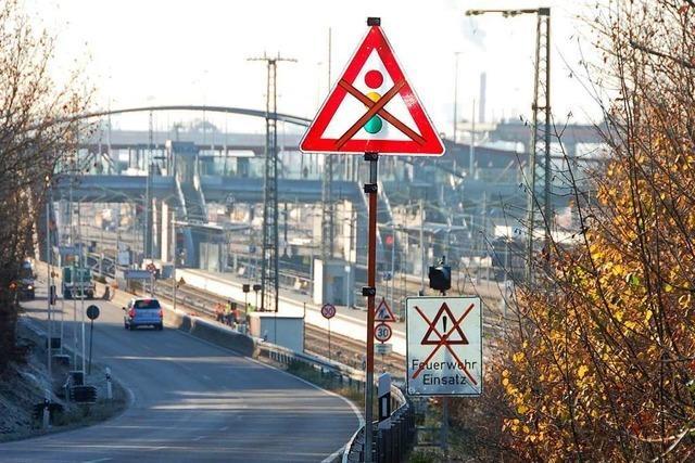 Die B 3 in Weil am Rhein wird halbseitig gesperrt – für fast zwei Jahre