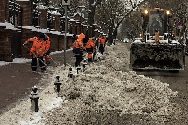 Eine Stadt kämpft gegen den Schnee