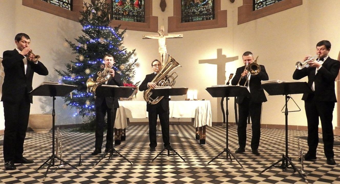 Das Brass Quintet Kiew Academy begeist...swechsel-Konzert in der Pauluskirche.   | Foto: Bianca Flier