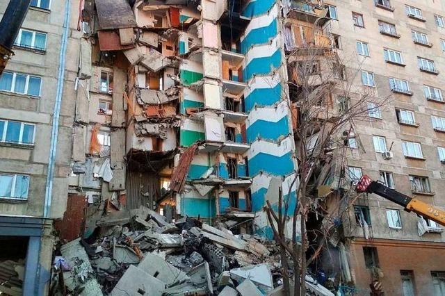 Gasexplosion in russischem Wohnhaus - Retter suchen nach Vermissten
