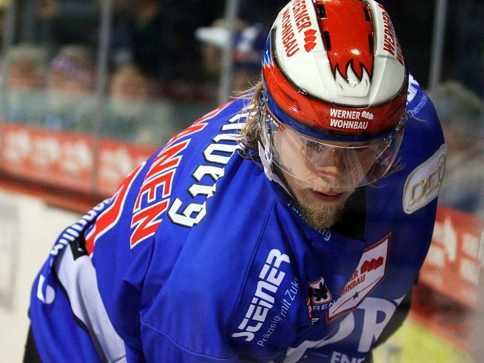 Schoss den Game-Winner: Vili Sopanen.    Foto: Dieter Reinhardt