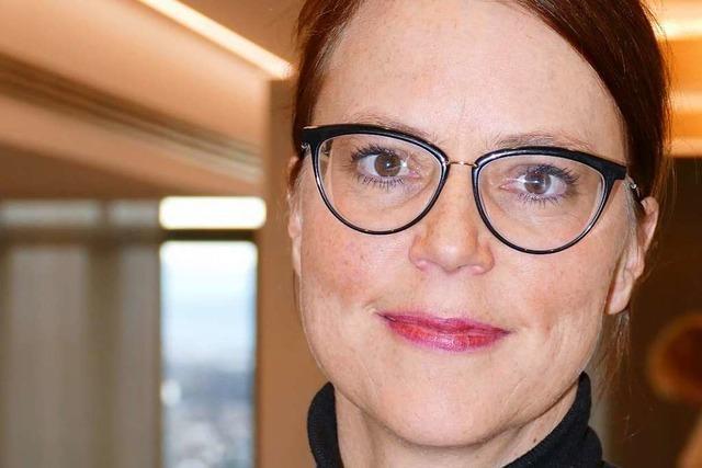 Die Lörracher Bürgermeisterin Monika Neuhöfe-Avdic will die Stadt weiterentwickeln