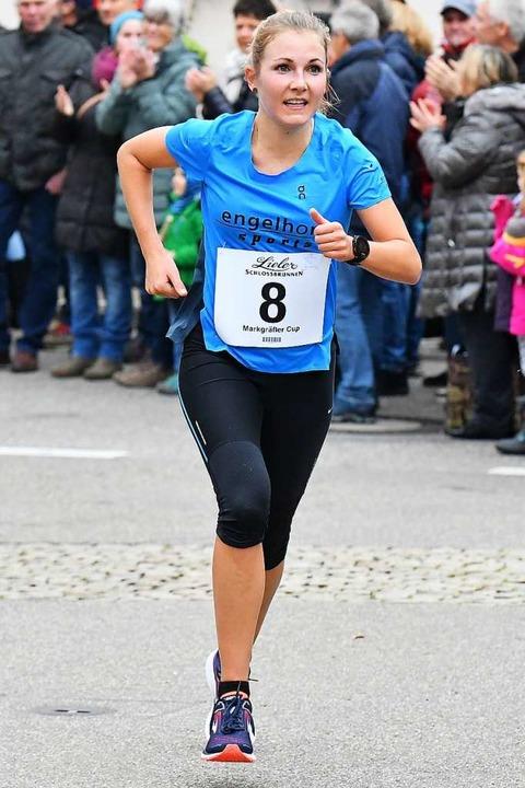 Starke Vorstellung bei den Frauen: Lea...war die Schnellste beim Silvesterlauf.  | Foto: Achim Keller