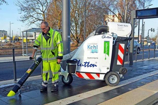 Das ist der neue Stadtmüllsauger für die Fußgängerzone in Kehl
