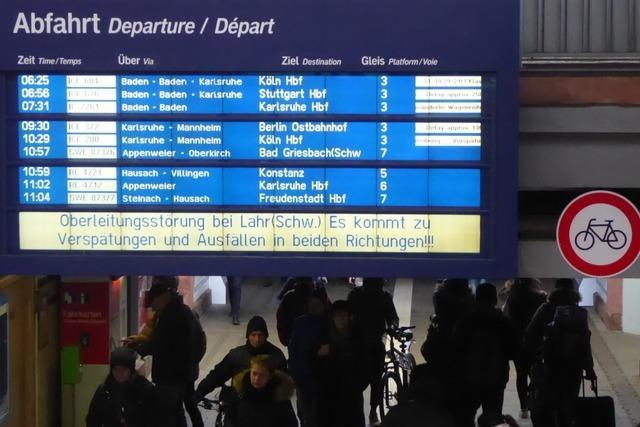 Rheintalstrecke zwischen Offenburg und Herbolzheim wieder frei
