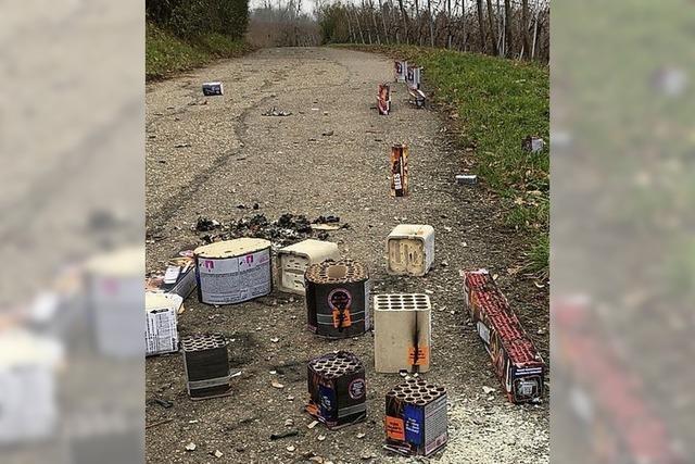 Jede Menge Silvester-Müll
